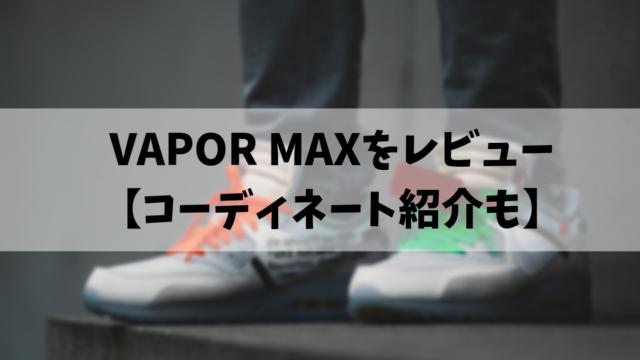 VAPOR MAXをレビュー 【コーディネート紹介も】