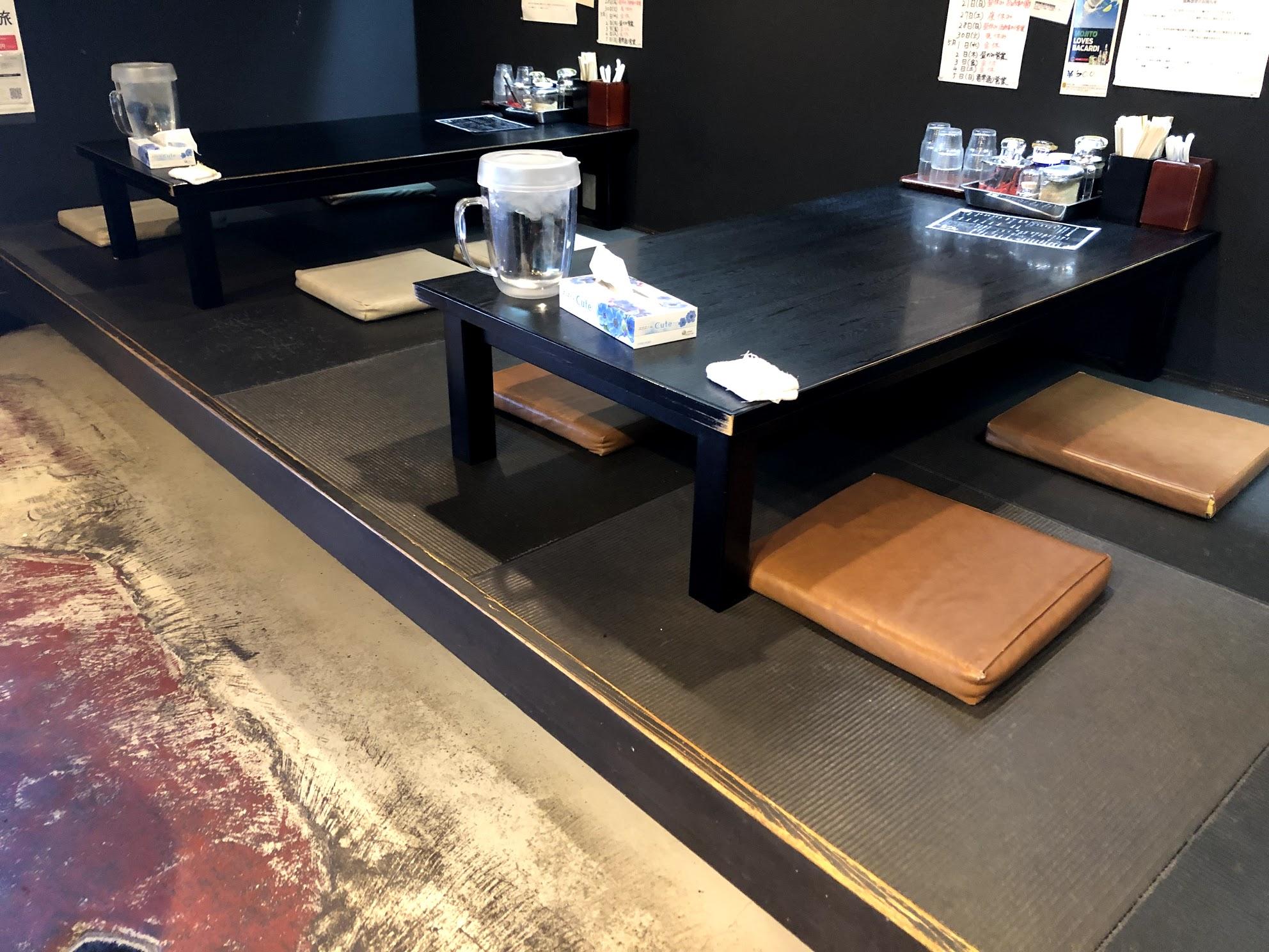 たつや テーブル