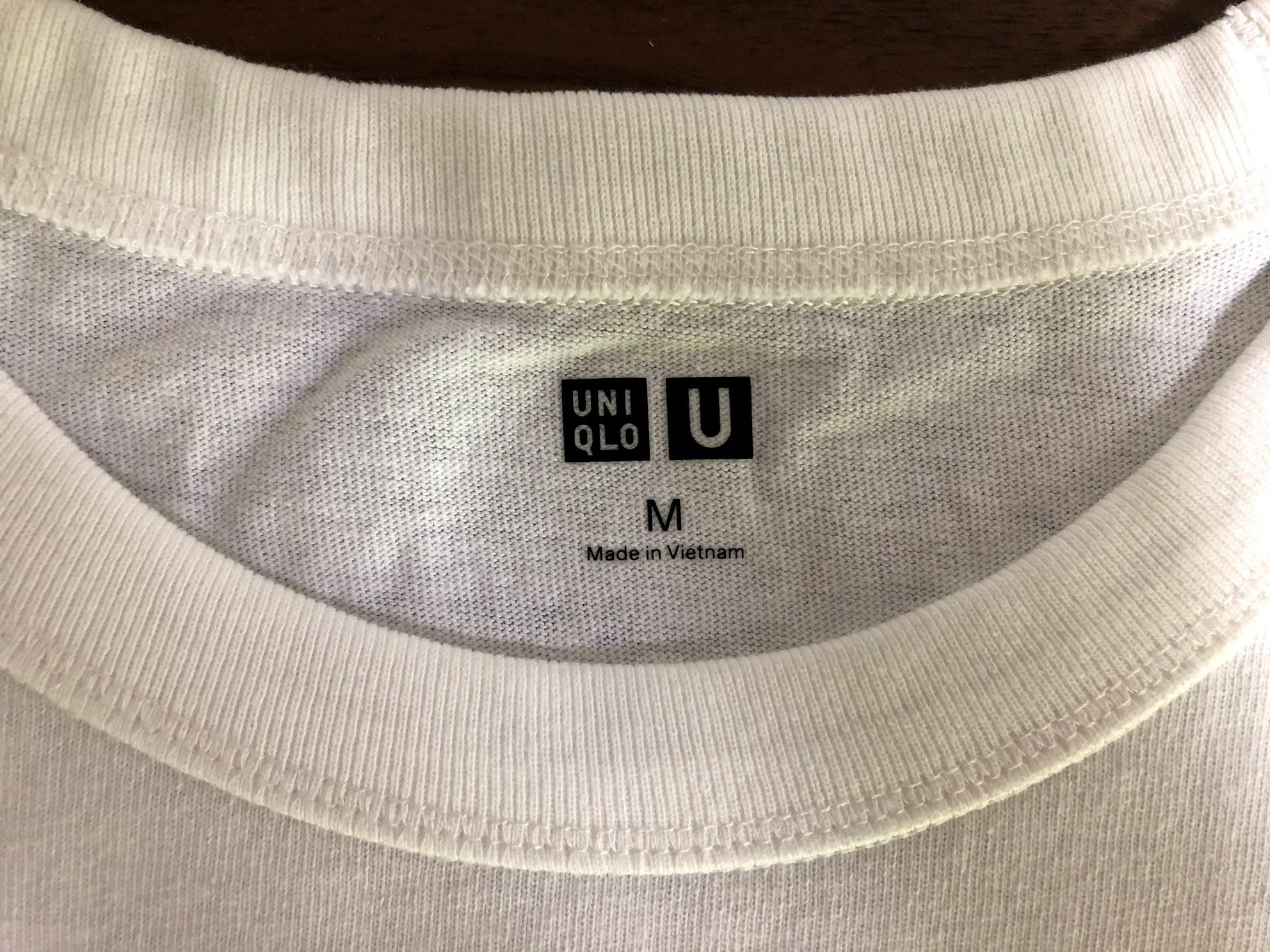 2019年ユニクロUTシャツのタグ