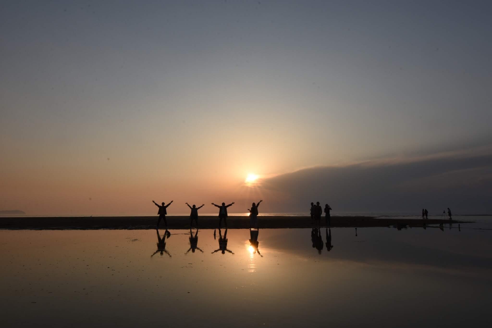 父母ヶ浜 ウユニ塩湖みたいな写真