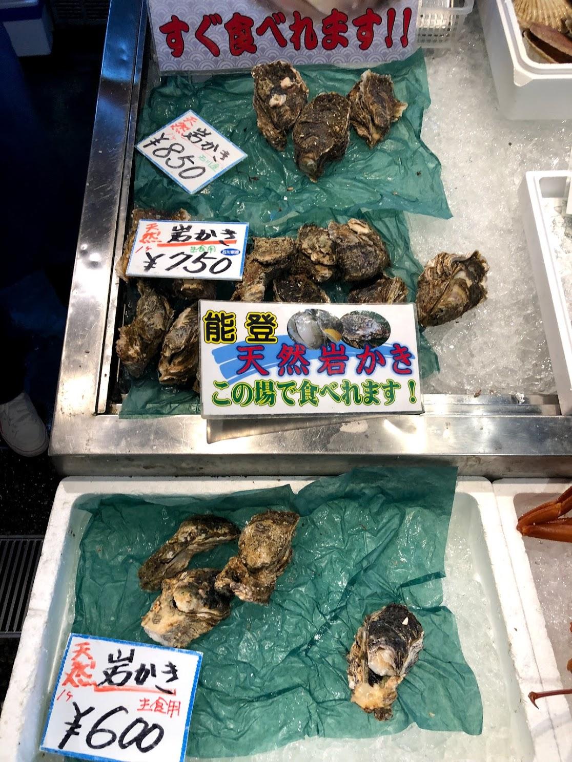 生牡蠣のサイズと値段