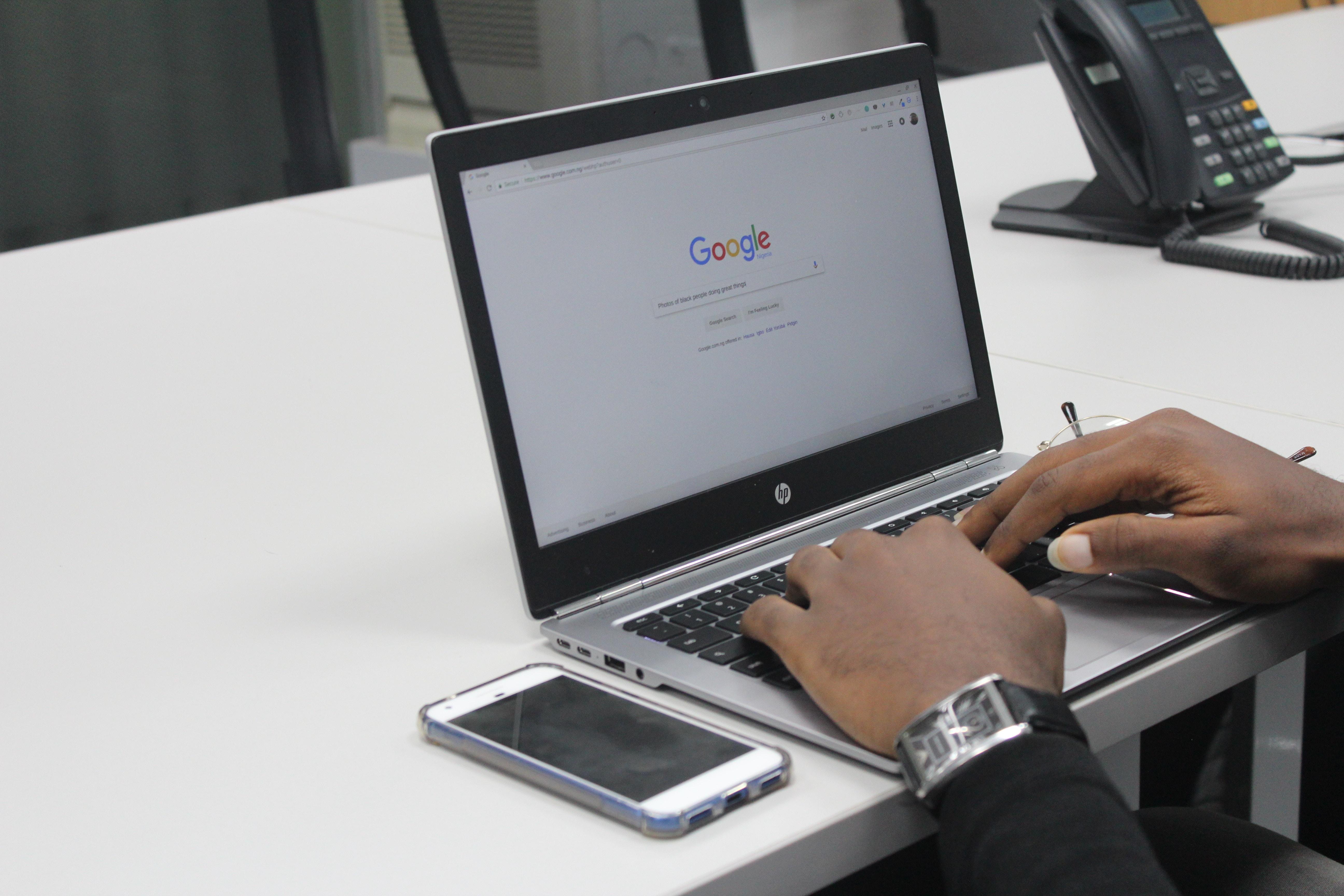 パソコンでGoogleを検索