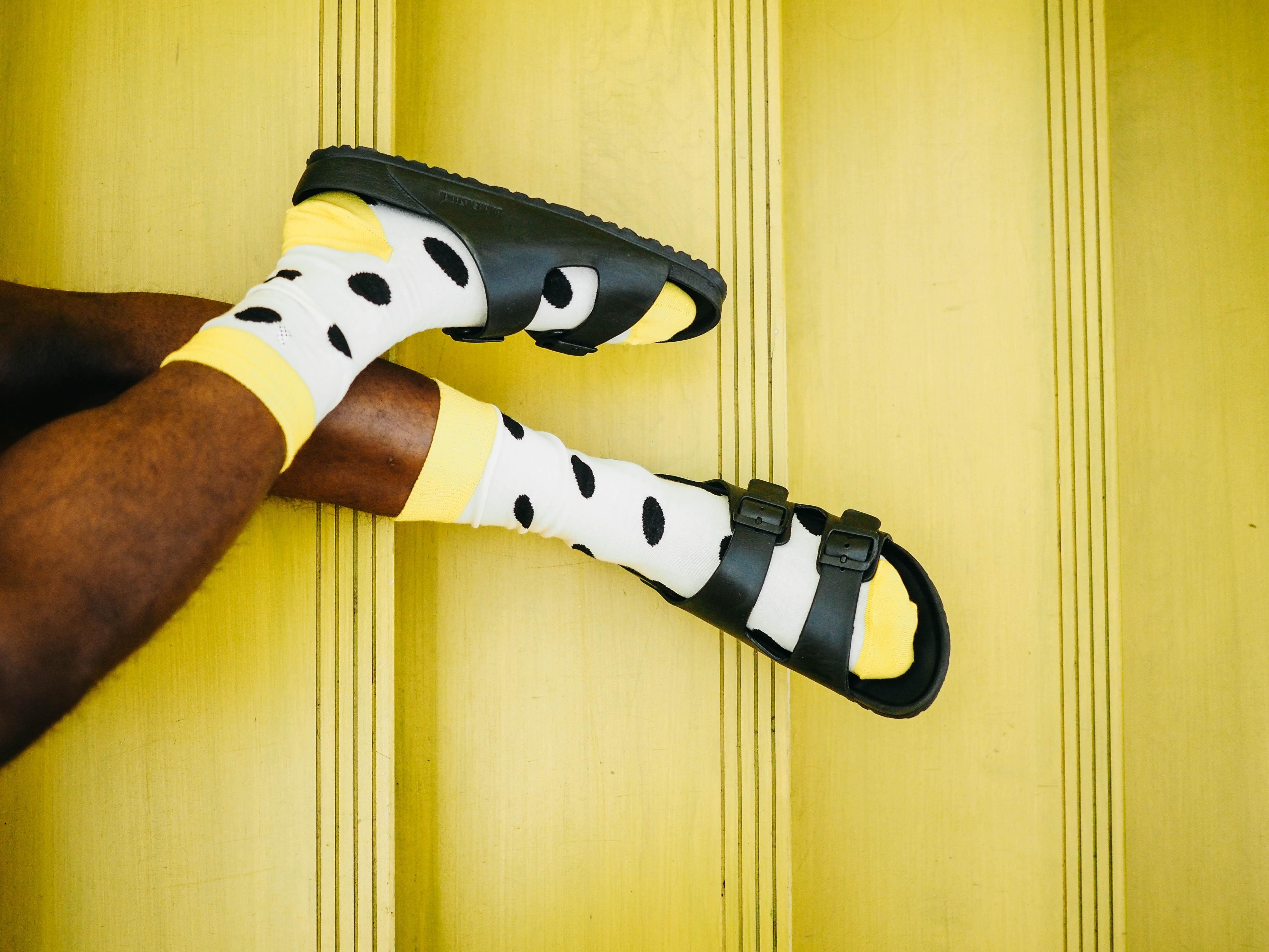 オシャレ黄色靴下