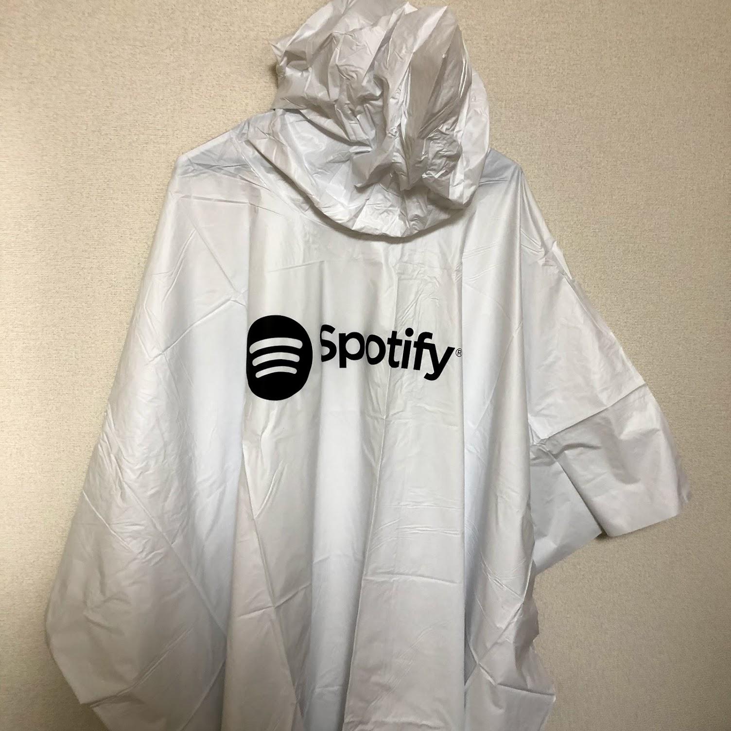 Spotify レインポンチョ