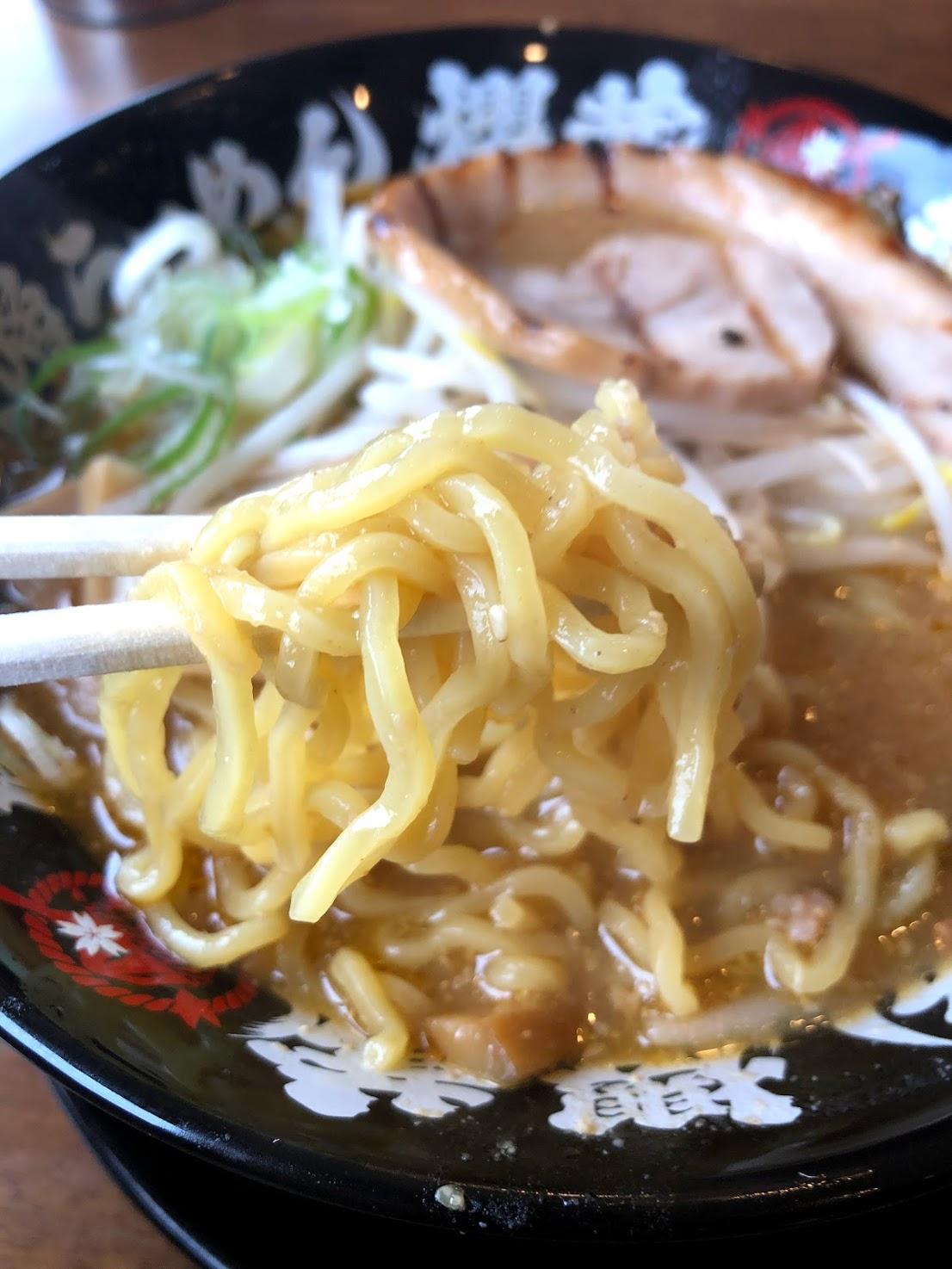 櫻蔵味噌ラーメン 麺