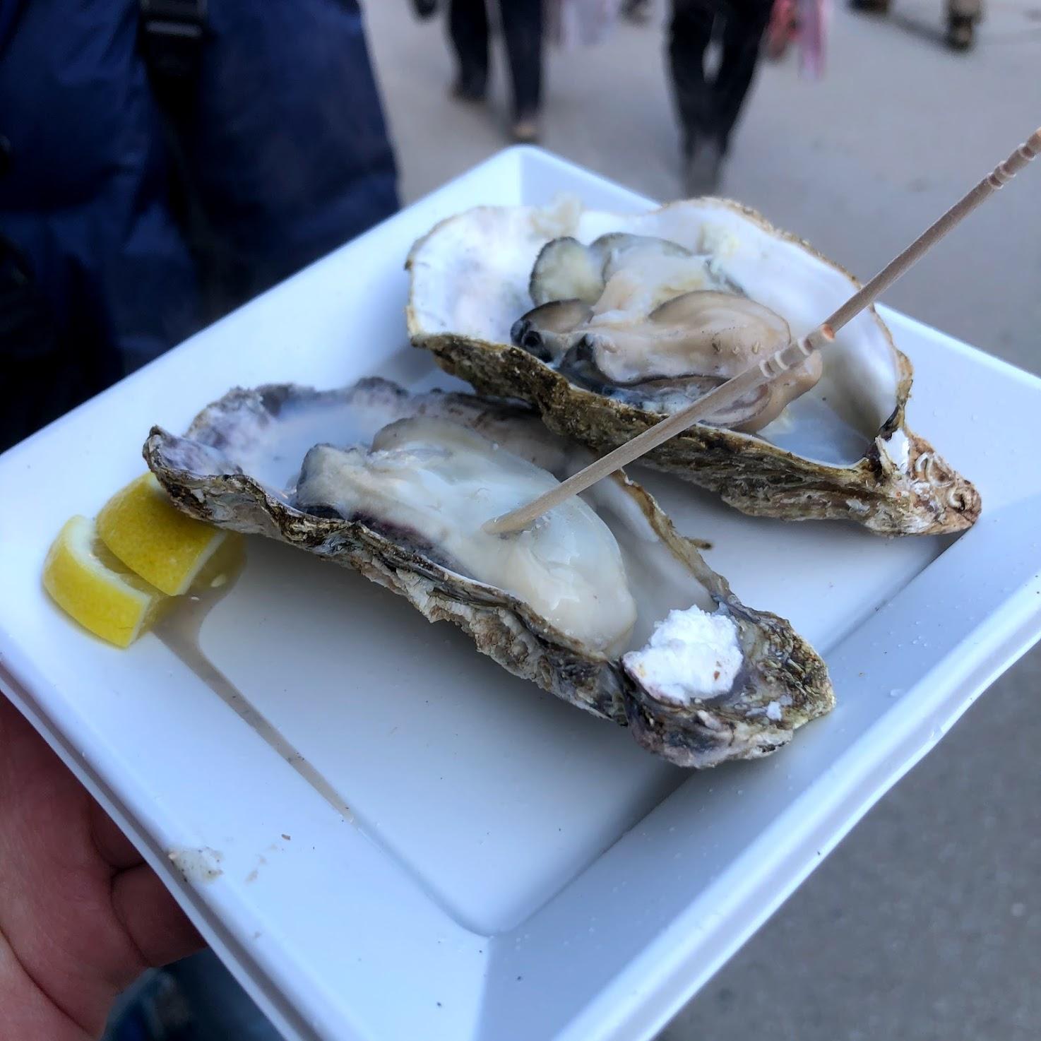 (有)宮野水産の焼き牡蠣