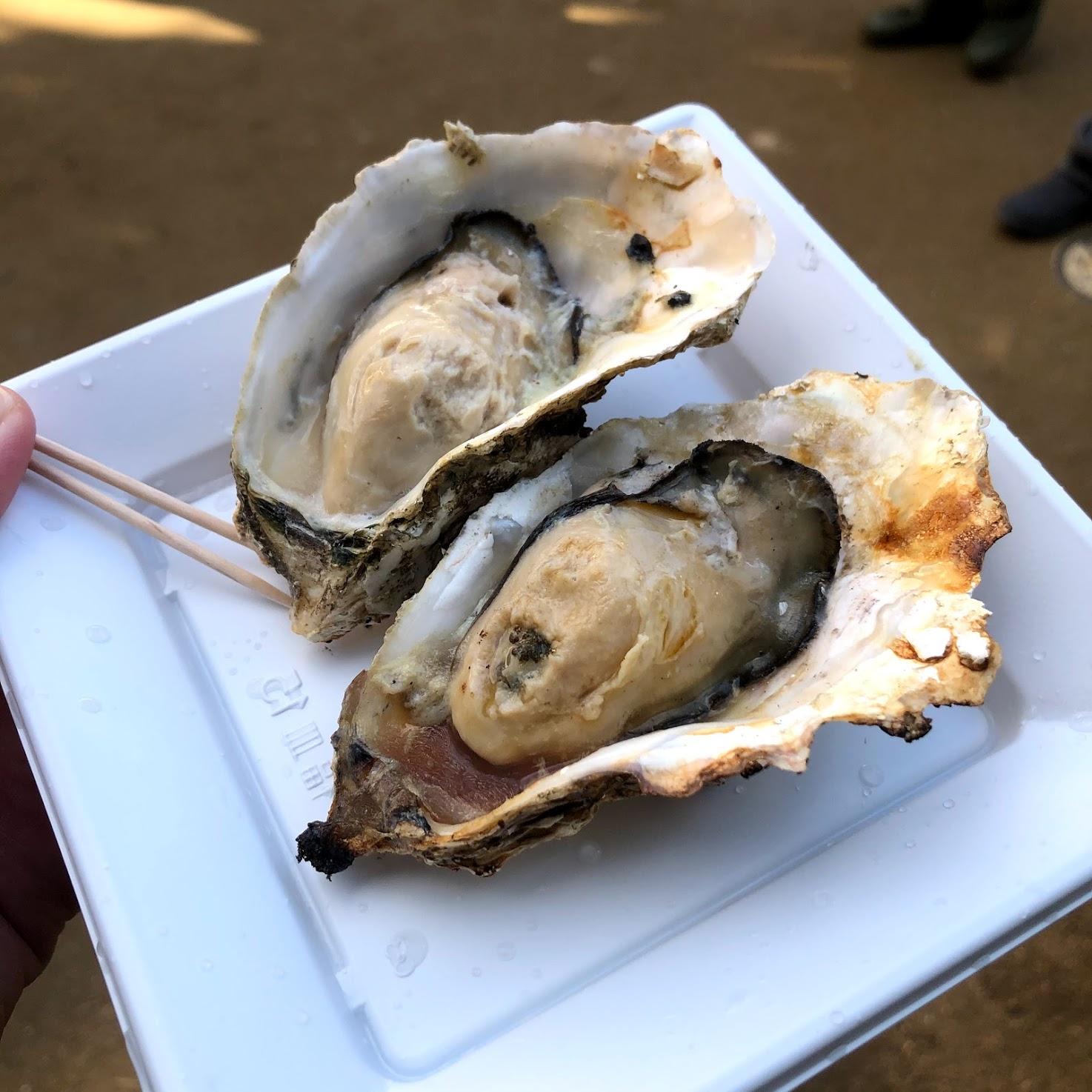 お食事処とりいの焼き牡蠣