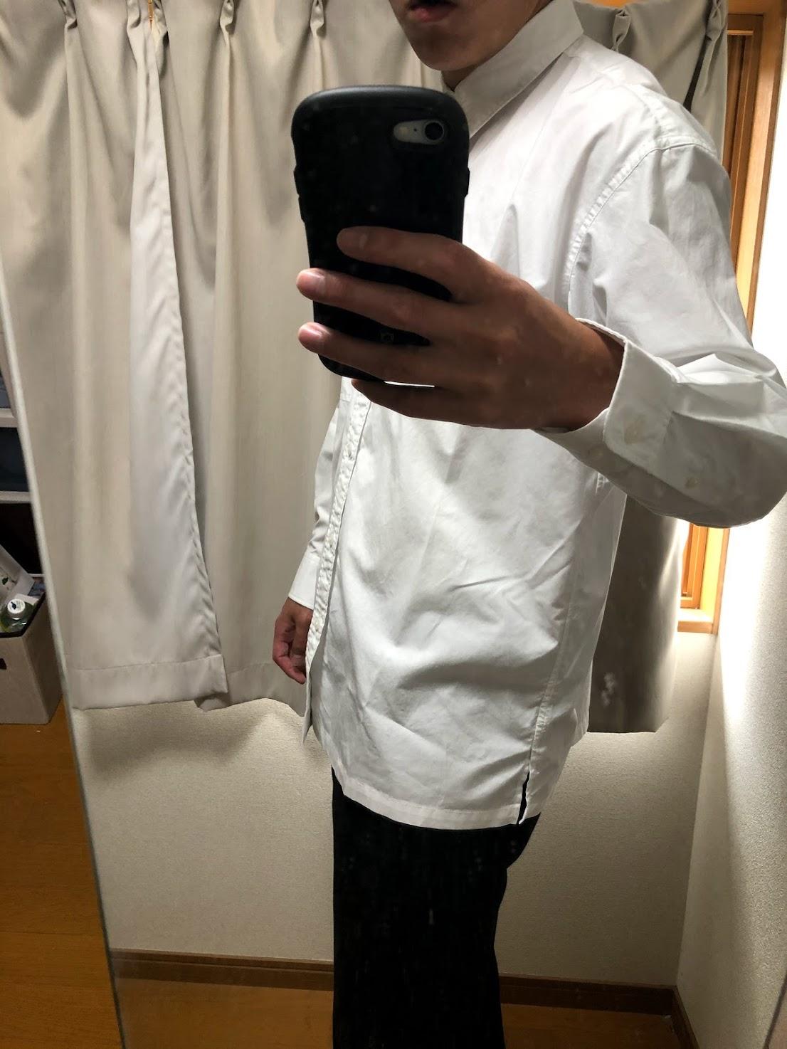JWアンダーソン白シャツ 横