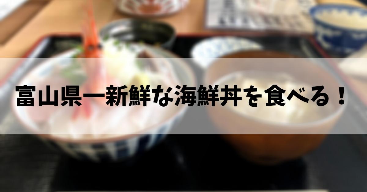 富山県一新鮮な海鮮丼を食べる!
