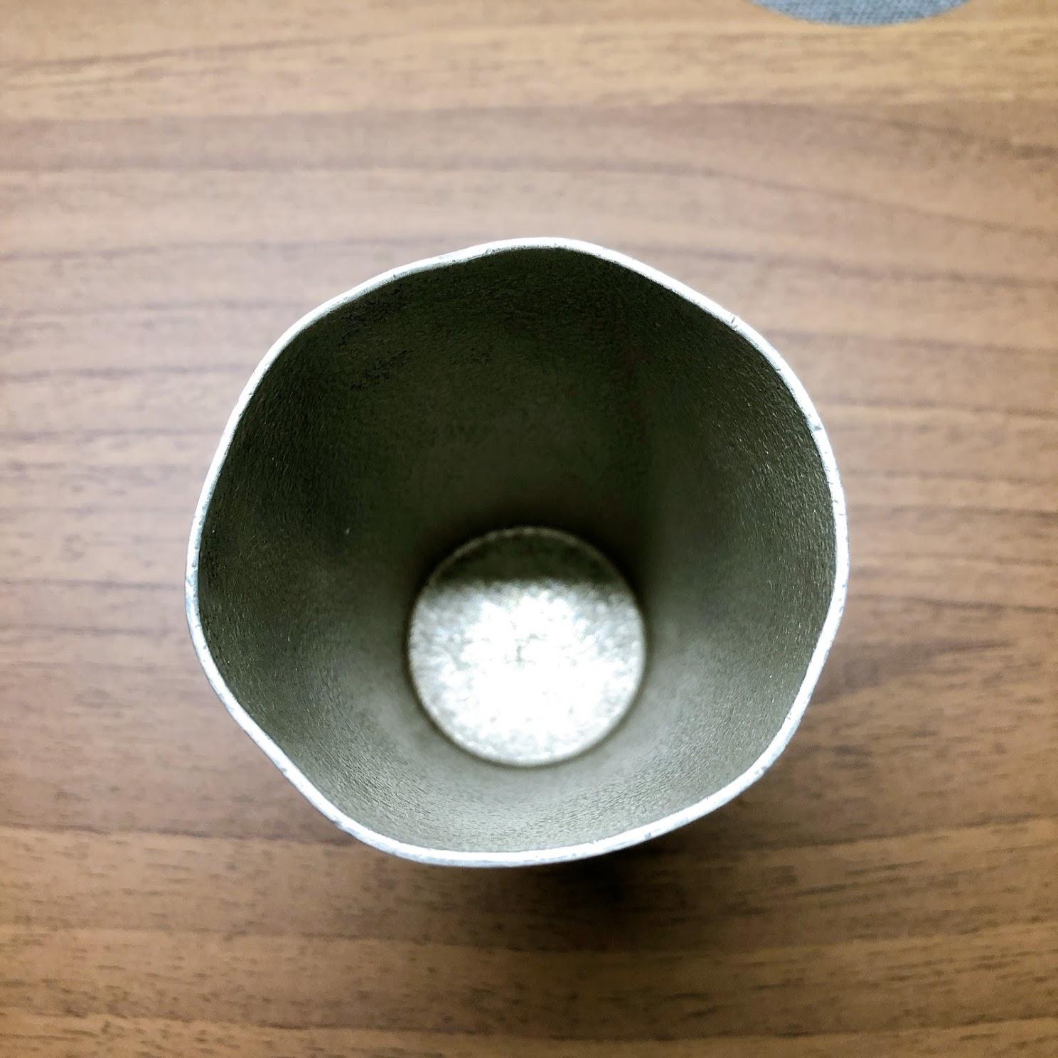 錫ビアカップ 飲み口①